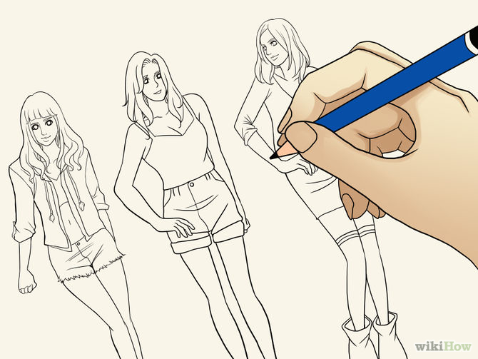 Cara Menggambar Sketsa Mode Musthafida